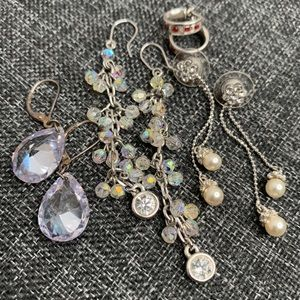 Fashion Jewelry Four Sets Of Earnings Mixed Lot